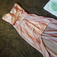Sequin Pink Prom Dress