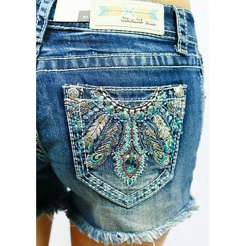 GRACE IN L.A. SHOW YOUR FEATHERS SHORTS