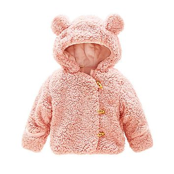 Baby Snow Wear Winter Bear Coat For Boys Girls Warm Jackets Toddler Outerwear Infant Outfit Kids Snowsuits