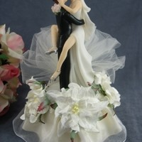 Funny Sexy Hawaiian Flower Beach Cake Topper - Wedding Collectibles