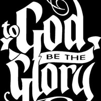 To God Be The Glory Christian Vinyl Car/Laptop/Window/Wall Decal