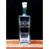 Liberty 750mL Liquor Bottle with Game of Thrones Quotes, Deep Etched, Metallic