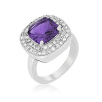 Purple Bridal Cocktail Ring, size : 08