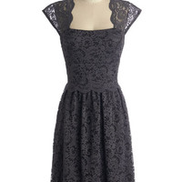 Mid-length Cap Sleeves A-line Refined the Way Dress