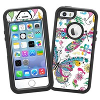 "Butterflies and Dragonflies ""Protective Decal Skin"" for OtterBox Defender iPhone 5s Case"