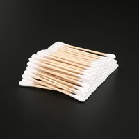 ELECOOL 100 Pcs Double Headed Makeup Cotton Swab Disposable Absorbent Hygienic Makeup Cotton Swabs For Health Care