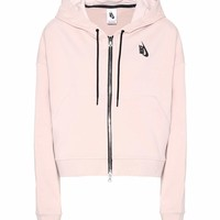 NikeLab Essentials cropped stretch-cotton hoodie