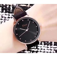 "Hot Sale ""Dior"" Stylish Women Personality Movement Quartz Watch Wristwatch Black"