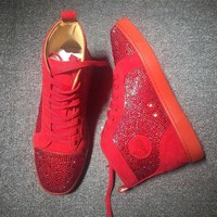 DCCK2 Cl Christian Louboutin Rhinestone Mid Strass Style #1910 Sneakers Fashion Shoes