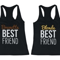 Brunette and Blonde BFF Tank Tops - 365 Printing Inc