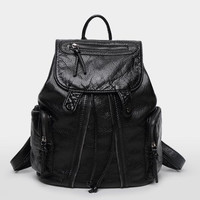 Back To School Casual Summer Leather Ladies Backpack [6582620807]