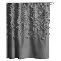 Lush Decor Lucia Polyester Shower Curtain