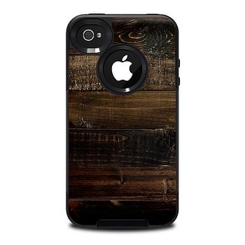 The Dark Wooden Worn Planks Skin for the iPhone 4-4s OtterBox Commuter Case