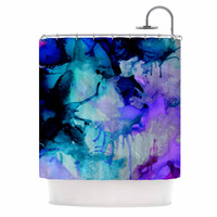 "Claire Day ""Lakia"" Blue Purple Shower Curtain"