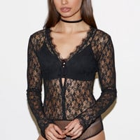 Kendall and Kylie Lace Long Sleeve Bodysuit at PacSun.com