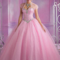 2014 New Beaded Quinceanera Dresses Bridal Ball Gown Prom dress Size Custom