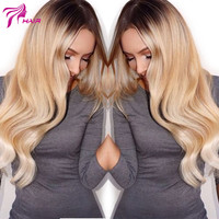 Customized 10A Top Grade #2/#24 Ombre Full Lace Wig Brazilian Virgin Human Hair Two Tone Glueless Lace Front Wigs Body Wave Wig