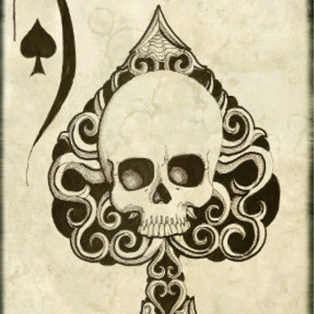 Ace of Spades death card archival print