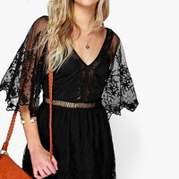 Boutique Jinny Ladder Detail Lace Dress | Boohoo