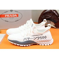 prada men fashion boots fashionable casual leather breathable sneakers running shoes 95