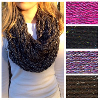 Choose your Multicolor Arm Knit Infinity Scarf
