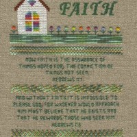 Faith Sampler Cross Stitch Pattern by AStitchAndAPrayer on Zibbet