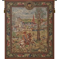 Vieux Brussels (Left Side) Tapestry Wall Art Hanging