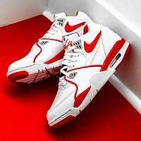 Nike Air Flight 89 new men's colorblock basketball sneakers Shoes Red