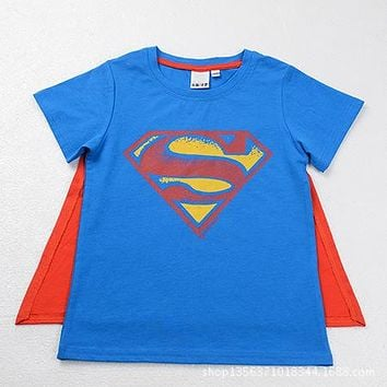 Superman T Shirt Lovers clothes boys and girls casual Batman O neck short sleeve t shirts for kids Cotton tees