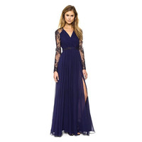 'The Victoria' Blue Formal Evening Gown