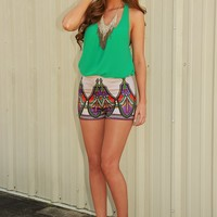 Loose In Layers Top: Green - Tops - Hope's Boutique