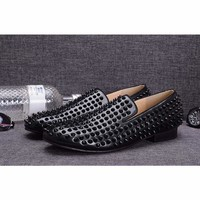 Handmade Loafers Leather Casual  Luxury Men Shoes