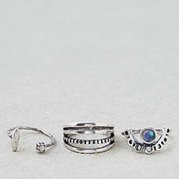 AEO Petal and Stone Ring , Silver