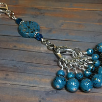 Speckled Knitting Bag Lanyard for Stitch Markers