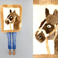 ALPACA Horse Pillowcase / Wall Hanging