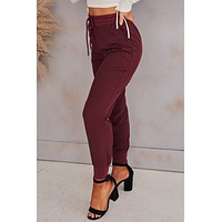 Make Your Heart Race Joggers (Wine)