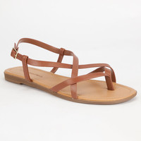 City Classified Spica Womens Sandals Tan  In Sizes