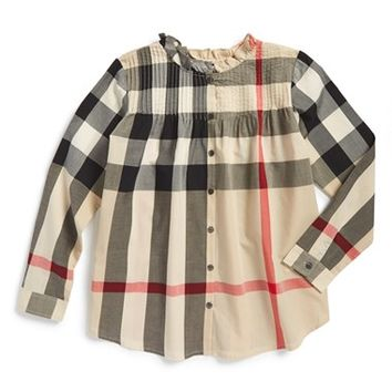 Girl's Burberry 'Bretta' Tunic,