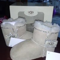 baby uggs baby boots fur boots