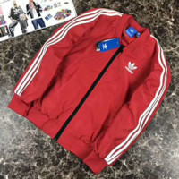 "ADIDAS"" Women Hooded Zipper Cardigan Sweatshirt Jacket Coat Windbreaker G-A-GHSY-1"