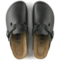 Boston Natural Leather Soft Footbed Black | BIRKENSTOCK