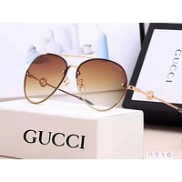 Vogew GUCCI fashion casual lady gradient beach sunglasses sunglasses