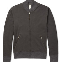 Billy Reid - Aubrey Leather-Trimmed Cotton and Alpaca-Blend Zipped Sweatshirt | MR PORTER