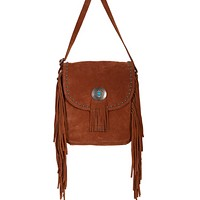 Scully Concho and Fringe Crossbody Bag