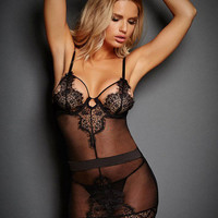 Babydoll Cut Out Straps Chemise