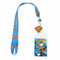 Superman Logo Lanyard with Rubber Charm