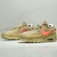 NIKE x OFF-WHITE AIR MAX 90 OW co-branded men's and women's casual sports shoes
