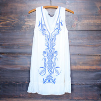 ethereal embroidered bohemian dress
