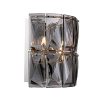 Nickel Crystal Glass Wall Lamp | Eichholtz Amazone