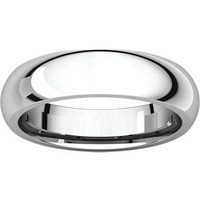 Sterling Silver 5mm Comfort Fit Wedding Band: RingSize: IR7_903_P